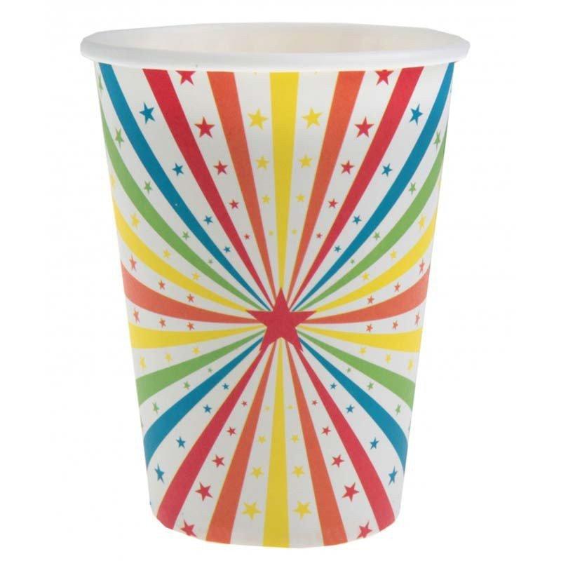 Gobelet cirque multicolore (x10)