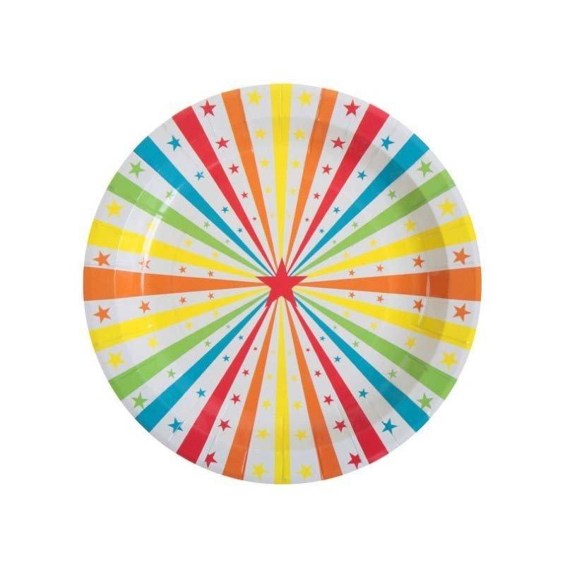 Assiette cirque multicolore (x10)