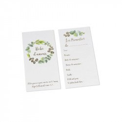 Cartes de pronostics Baby Shower (x10)