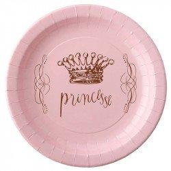 Assiettes Princesse Couronne (x6)