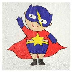 Serviette Super héros boy (x10)