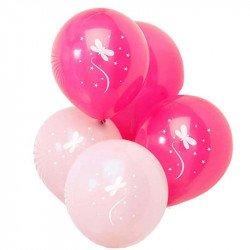 Ballons Fée Rose (x8)