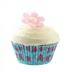 Moules à cupcake Rose et Bleu Vintage (x100)