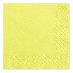 Serviettes Pastel (x20) - Jaune
