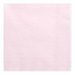 Serviettes Pastel (x20) - Rose