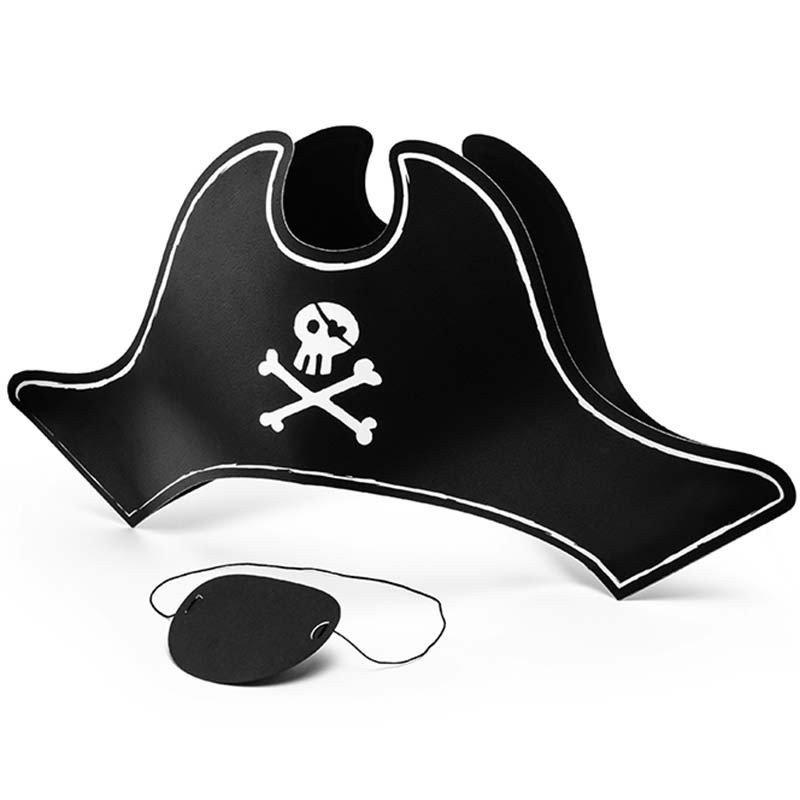 Chapeau et cache-oeil de pirate