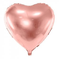Ballon mylar Coeur - Rose gold
