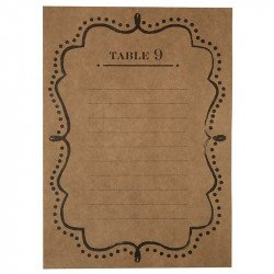 Plan de table kraft (x26)