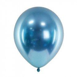 Ballons chromés - 30 cm (x3) - Bleu ciel