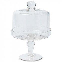Cloche bonbonnière en verre