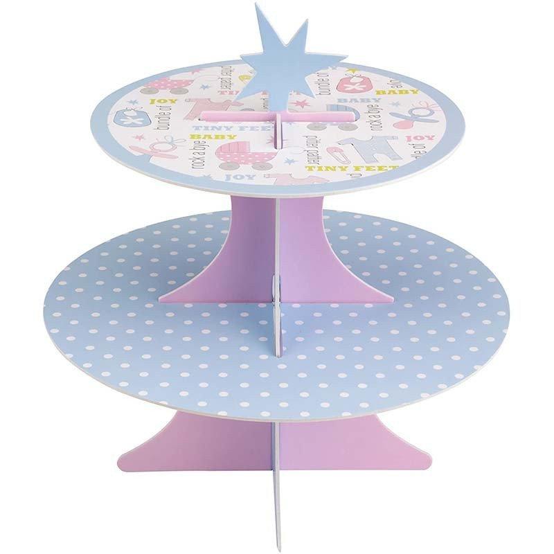 Support à gâteaux 2 étages avec des cupcakes