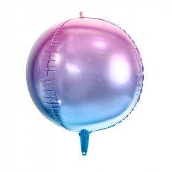 Ballon bulle dégradé mauve et bleu - 35 cm