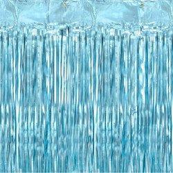 Rideau scintillant bleu