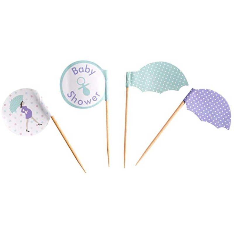 Décoration pour cupcakes baby shower purple (x20)