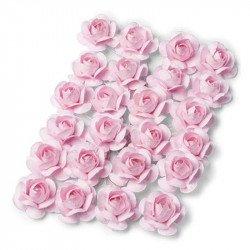 Roses en papier sur tige (x24)