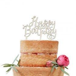 "Cake Topper en bois ""Joyeux Anniversaire"""
