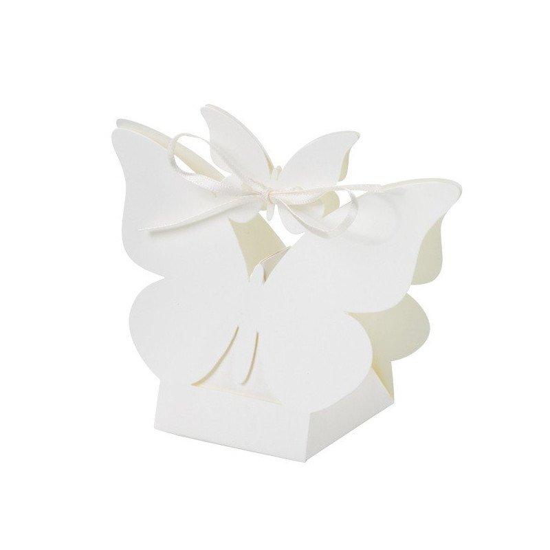 Boîte à dragées forme papillons  (x10)