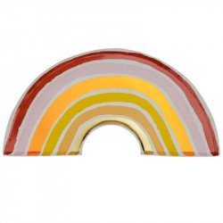Assiettes Arc-en-ciel Terracotta (x8)