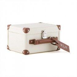 Urne mini valise blanche