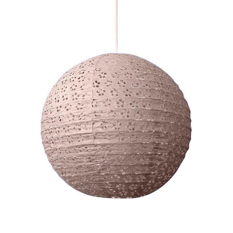 Lampion dentelle naturel - 45 cm