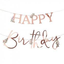 "Guirlande botanique ""Happy Birthday"" - 2M"