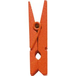 Pinces en bois (x12) - Orange