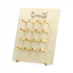 Support à Donuts en bois (x16)