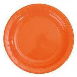 Assiettes carton laquées brillantes (X10) - Orange