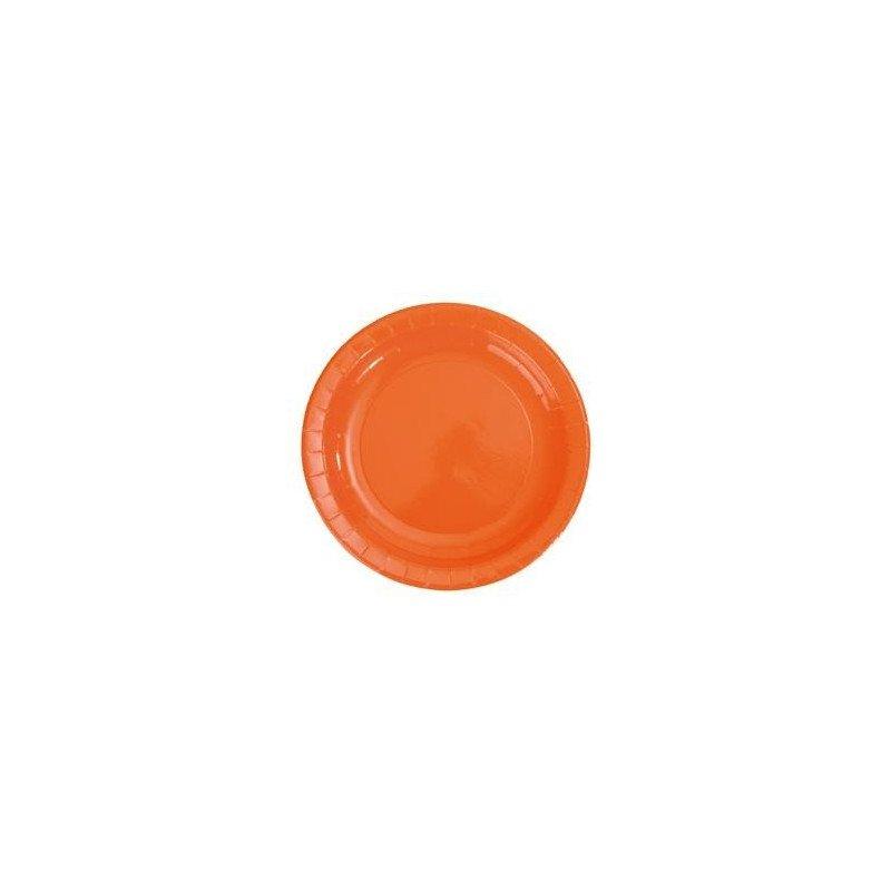Assiettes laquées unies orange