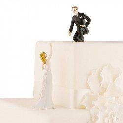 Figurine Les Mariés se tendant la main