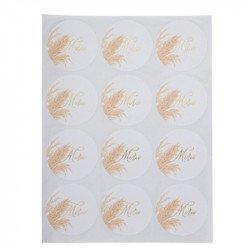 "Stickers ""Merci"" Jolie Pampa (x24)"