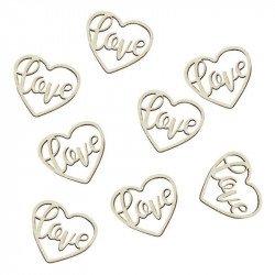Confettis Cœurs Love bois (x24)