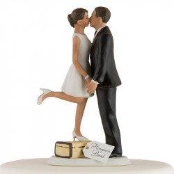 Figurine Les Mariés en Voyage - peau mate