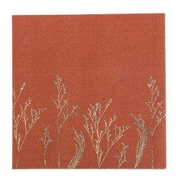 Serviettes Terracotta  (x16)