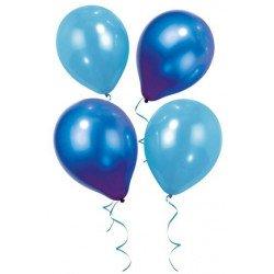 Ballons irisés bleus (x12)