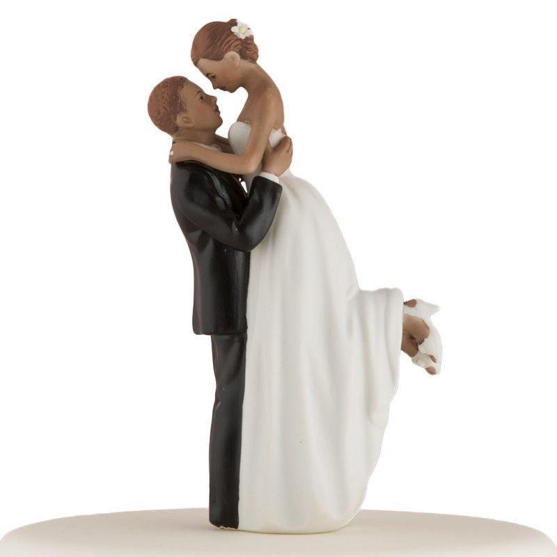 Figurine couple romance peau noire