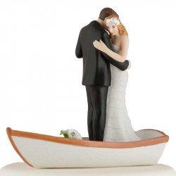 Figurine Couple Dansant sur une Barque
