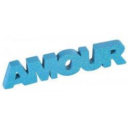Mot AMOUR pailleté - Turquoise