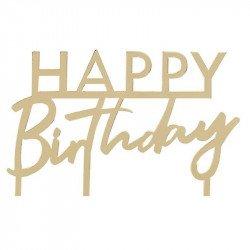 "Cake topper ""Happy Birthday"" Rose Gold"