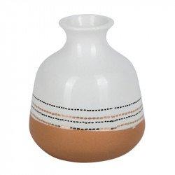 Vase Blanc et Terracotta