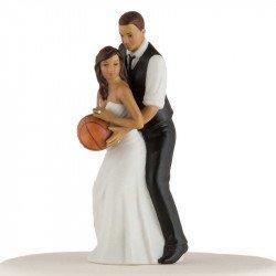 Figurine Les Mariés jouent au Basket - Ethnique