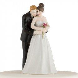 Figurine Le Couple et sa Rose