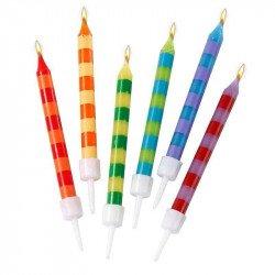Bougies d'anniversaire multicolores (x24)