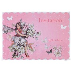 Carton d'invitation Fées - 10 unités