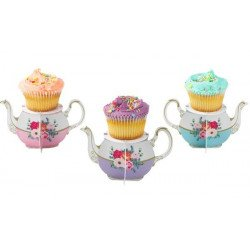 Support à cupcake tasse à thé - 6 unités