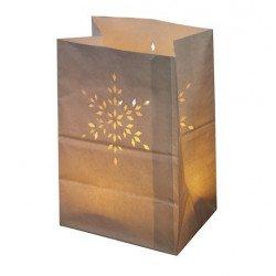 Sacs de lumière flocon Noël (x6)