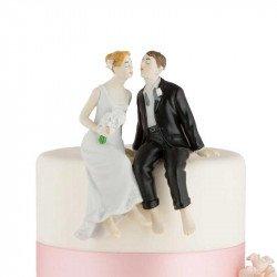 Figurine Couple de Mariés assis
