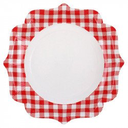 Assiettes Vichy (x10)