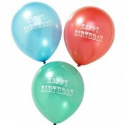 Ballons Happy birthday - 20 unités