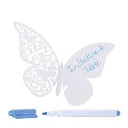 marque place papillon (x10)